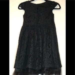 Chaps Floral Lace Formal Dress